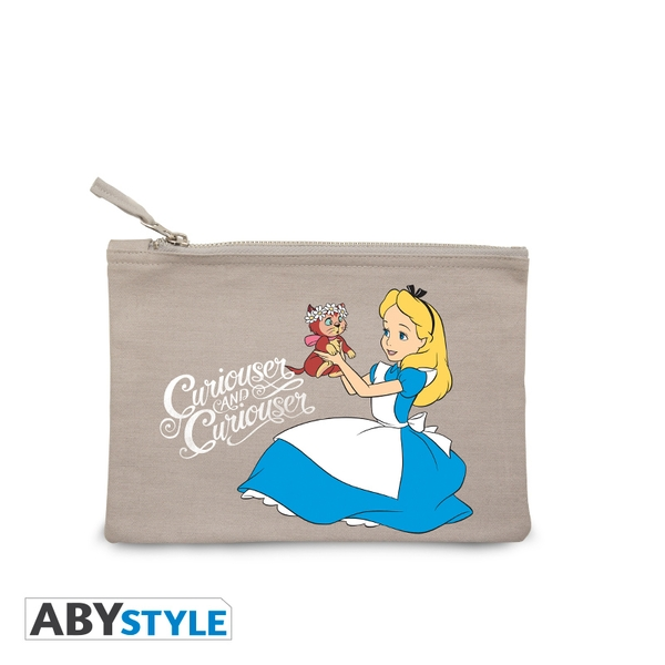DISNEY - Alice curiouser - Grey Cosmetic Case - Image 1