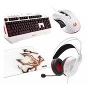 Asus CERBERUS Arctic Gaming Bundle Keyboard Mouse Mousepad and Headset