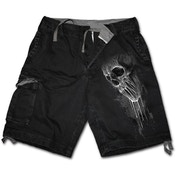 Bat Curse Men's Large Vintage Cargo Shorts - Black