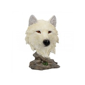 Snow Searcher Wolf Statue