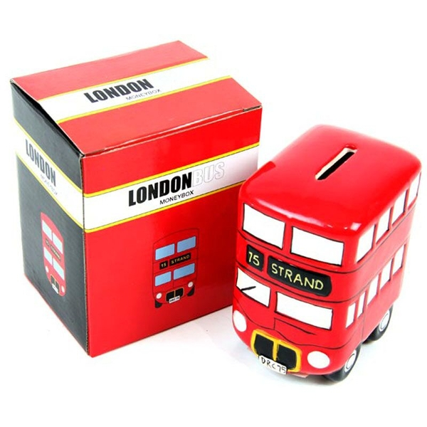 Ceramic Red Routemaster Bus Money Box