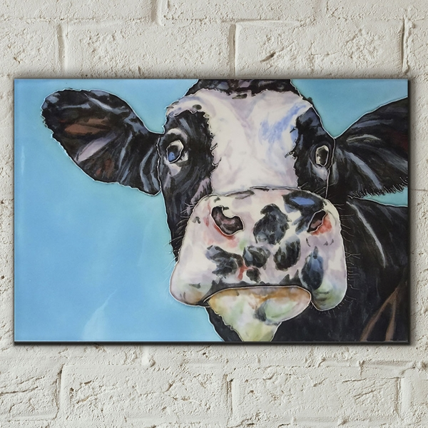 Spotty Cow Wall Tile By S Fenner