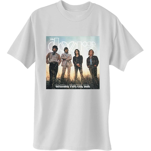 The Doors - Waiting for the Sun Men's XX-Large T-Shirt - White