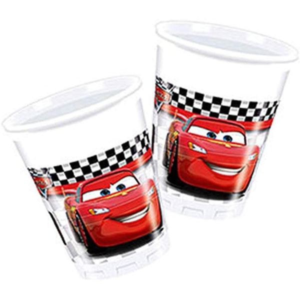 Disney Car Cups (Pack Of 8)