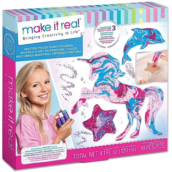Make It Real - Master Pieces Paint Pouring Activity Set