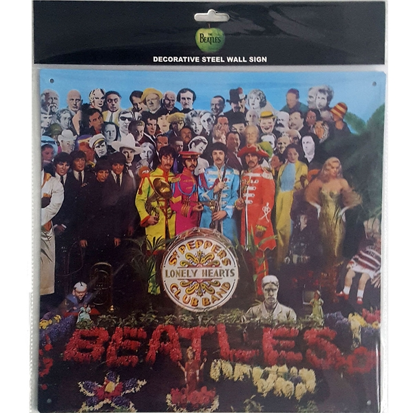 The Beatles Sgt Pepper Steel Wall Sign
