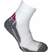 Horizon Pro Racket Quarter Socks 4-7 White/Grey/Pink