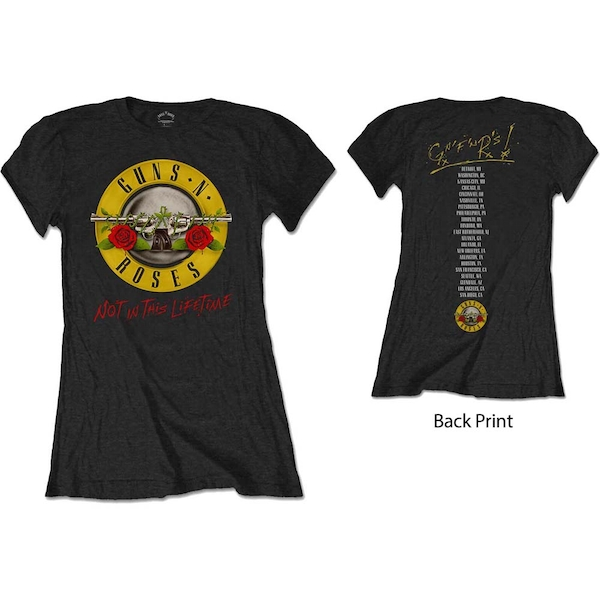 Guns N' Roses - Not In This Lifetime Tour Women's Small T-Shirt - Black
