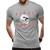 Star Wars 8 - First Order Trooper Profile Men's Medium T-Shirt - Grey