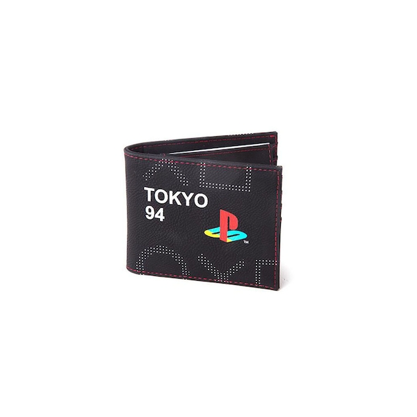 Sony - Japan Tokyo 94 Men's Bi-Fold Wallet - Black/Red