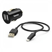Dualpicco Car Charger Kit Lightning 2 A Charger/charg. cable, 1.5m, Black