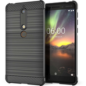 Nokia 6 (2018) Carbon Anti Fall TPU Case - Black