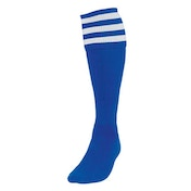Precision 3 Stripe Football Socks Boys Royal/White