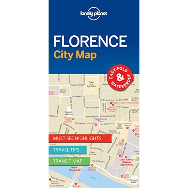 Lonely Planet Florence City Map  Sheet map, folded 2017