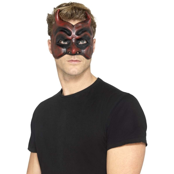 Masquerade Devil Mask Halloween (Red)