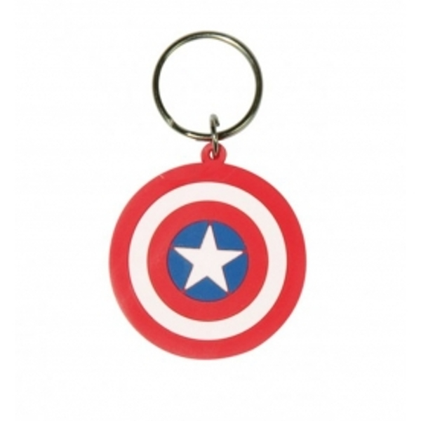 Marvel Comics - Captain America Shield Rubber Keychain