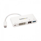 StarTech USB-C Multiport Adapter for Laptops Power Delivery DVI GbE USB 3.0