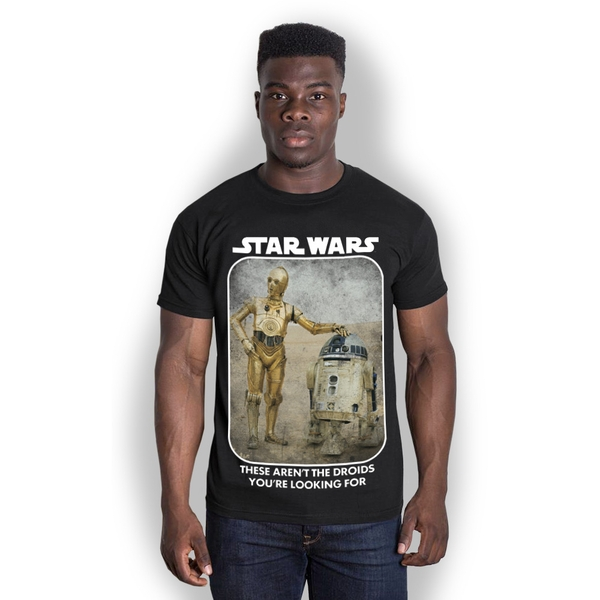 Star Wars - Droids Unisex XX-Large T-Shirt - Black