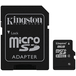 Kingston 8GB Micro SDHC Class 4 Flash Card with Adapter - Image 2