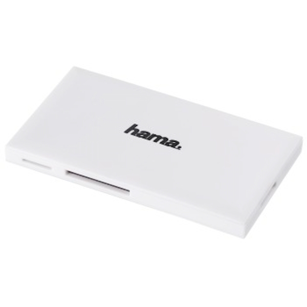 Hama | USB 3.0 Multi-Card Reader, SD/microSD/CF/MS, white