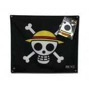One Piece Black Skull Luffy Flag 50cm x 60cm