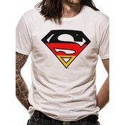 Superman - German Flag Men's Small T-Shirt - White