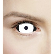 Sinister Black & White 1 Year Sclera Coloured Contact Lenses (MesmerEyez Xtreme)