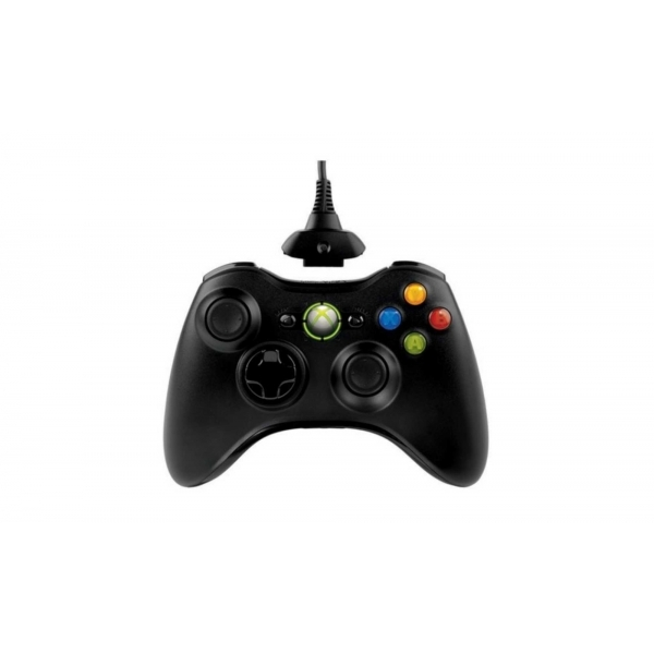 Official Microsoft Black Wireless Controller with Play & Charge Kit Xbox 360 - Image 2