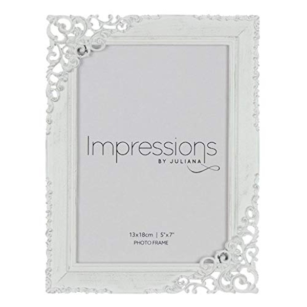"5"" x 7"" - Impressions Cream Distressed Photo Frame"