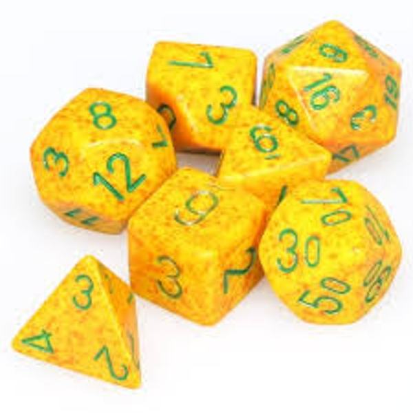 Chessex Speckled Poly 7 Dice Set: Lotus
