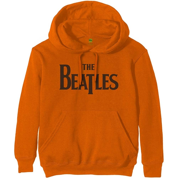 The Beatles - Drop T Logo Men's X-Large Pullover Hoodie - Orange