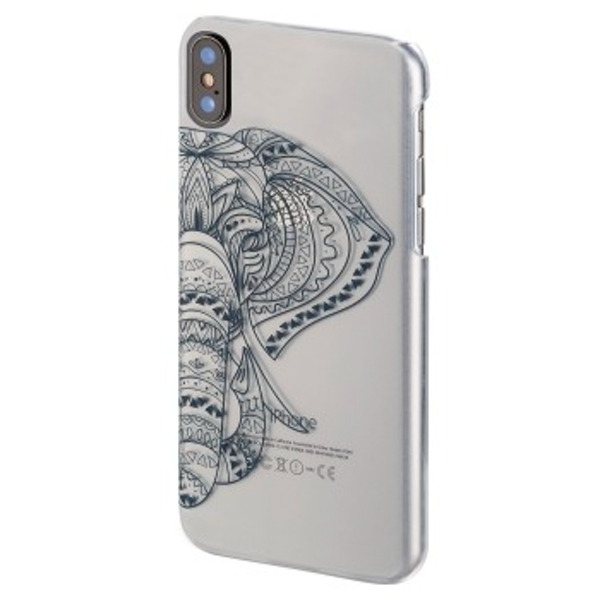 """Hama """"Tantor"""" Cover for Apple iPhone X, transparent/blue"""