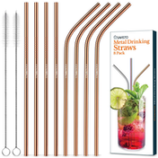 Savisto Reusable Straw Set - Copper