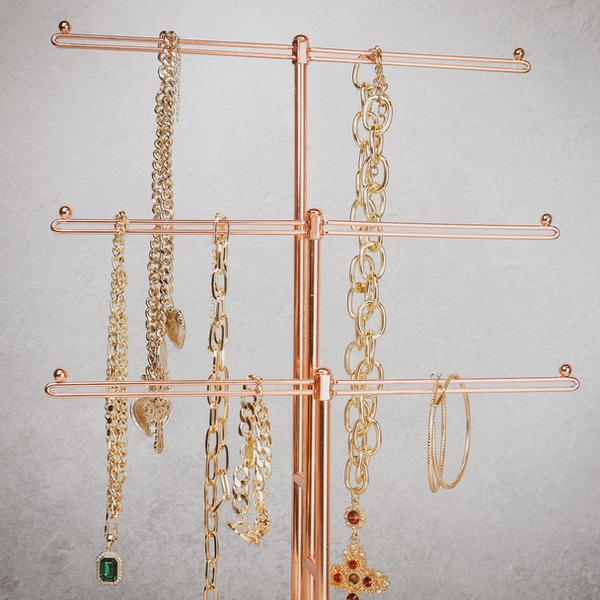 Rose Gold Jewellery Tree Stand M W Roov