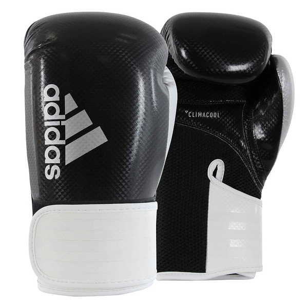 Adidas 65 Hybrid Boxing Gloves Black/White - 12oz