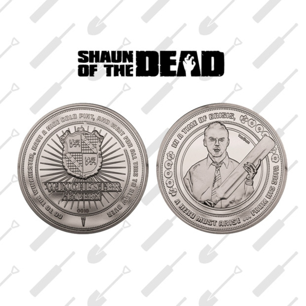 Shaun of the Dead Collectable Coin (Silver) - Image 1
