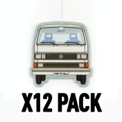 Pina Colada/White VW T3 Bus (Pack Of 12) Air Freshener