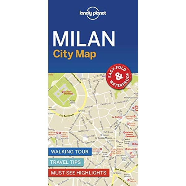 Lonely Planet Milan City Map  Sheet map, folded 2018