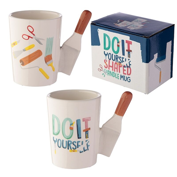 Ceramic DIY Paint Scraper Shaped Handle Mug