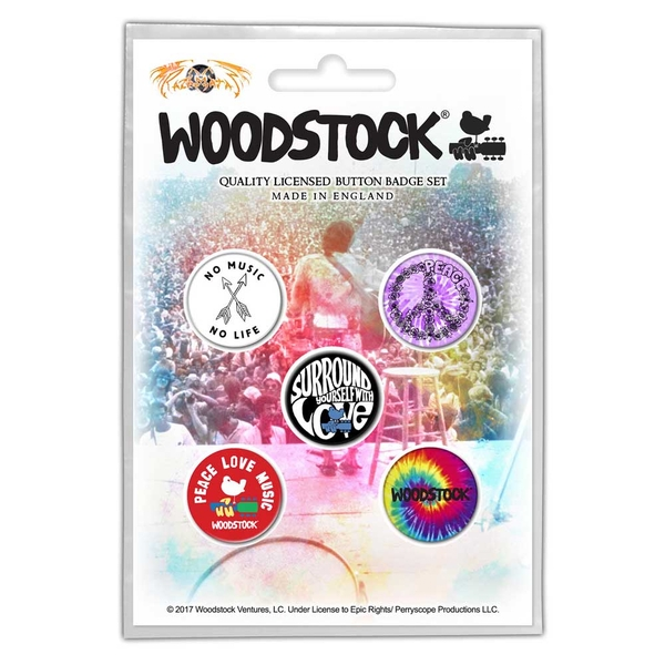 Woodstock - Surround Yourself Button Badge Pack