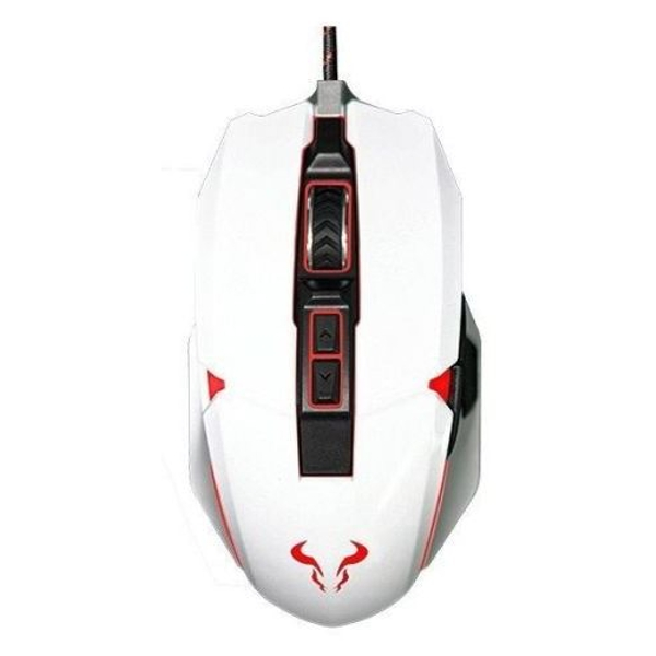 Riotoro AUROX Prism Wired Optical RGB Gaming Mouse, USB - White
