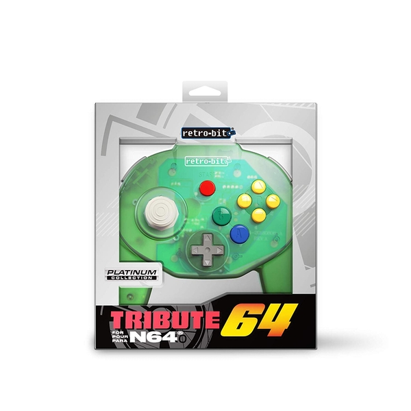 Forest Green Retro-Bit Tribute 64 Controller for Nintendo 64