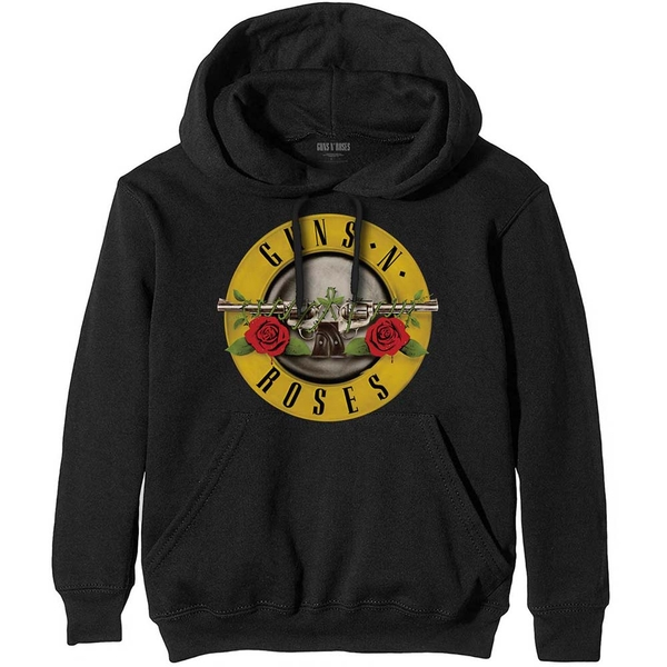 Guns N' Roses - Classic Logo Unisex Small Pullover Hoodie - Black