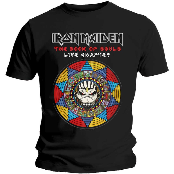 Iron Maiden - Book of Souls Live Chapter Unisex Large T-Shirt - Black