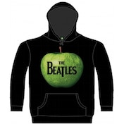 The Beatles Apple Hooded Top Black: X Large