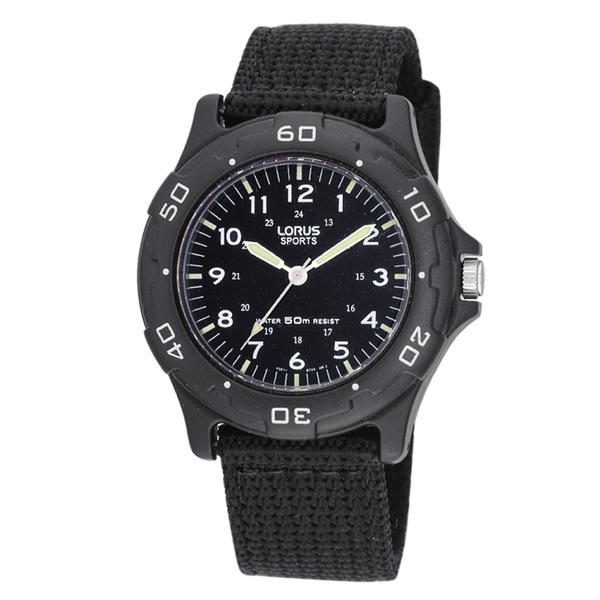 Lorus RRX89FX9 Military Style Canvas Strap Sports Watch
