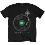 The Beatles Apple Turntable Men's Blk T Shirt: X Large