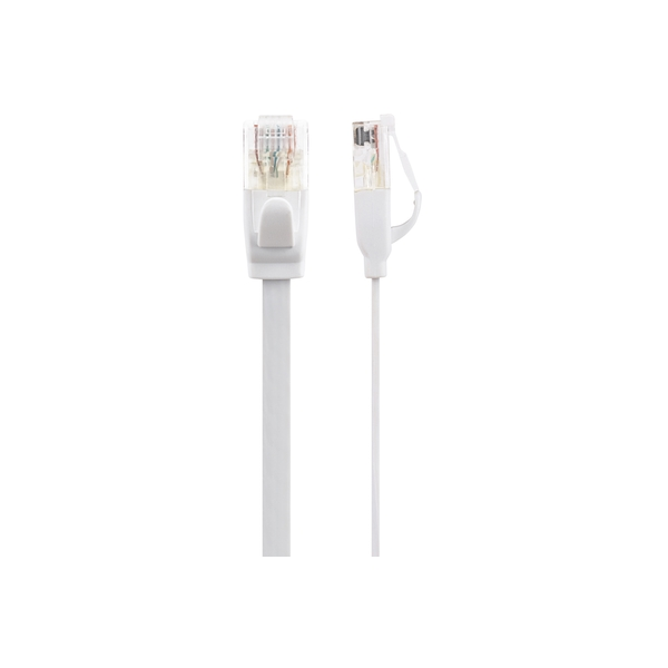 Maplin CAT6 RJ45 Plug Flat Ethernet Network Cable 2m White