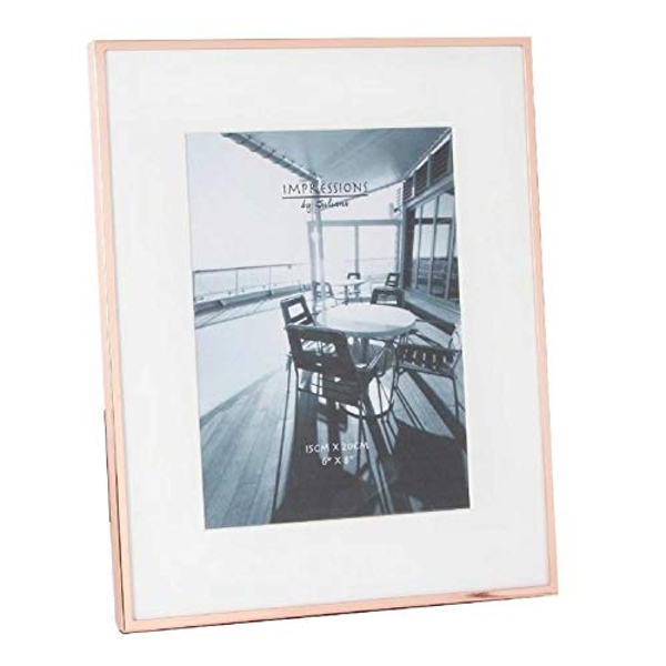 """6"""" x 8"""" - Impressions Copper Plated Narrow Edged Frame"""
