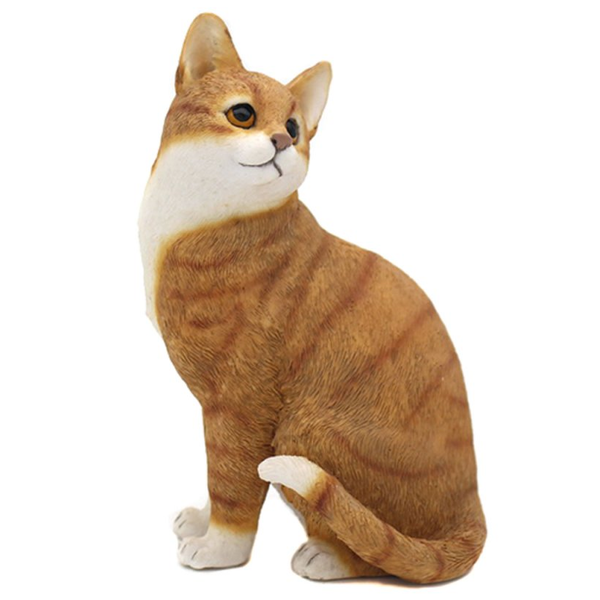 Cat Figurine Of Sitting Ginger & White Cat By Lesser & Pavey